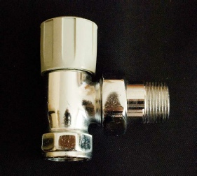 Photo of a large, chunky Peglers Belmont wheelhead radiator valve